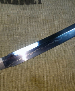 hand forged blade for short tanto sword wakizashi 320 mm with hamon line