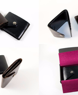 Leather wallets purse brown and black color by Alexander Martyniuk (Emfitemzis)
