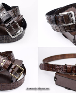 Belts made of crocodile leather by Alexander Martynyuk (Emfitemzis)