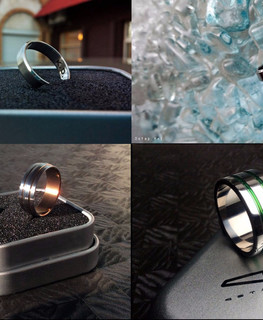Titanium wedding rings Ostap Hel