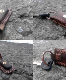 keychain Leather case for flash drive