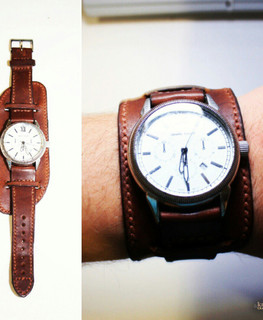 "Leather watchband by workshop ""Cactus"""