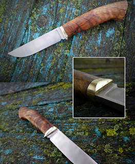 russian knife 95h18 steel with chestnut rope handle