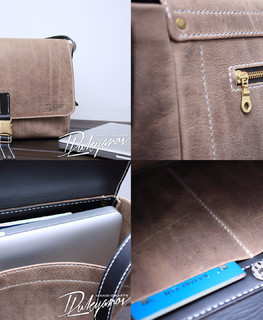handemade brown real leather men Messenger Bag Laptop Briefcase buy in Almaty, Kazahstan
