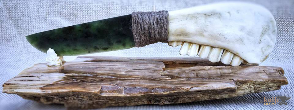 handmade ritual stone jade knife with jaw handle buy or order in Ukraine, Cherkassy