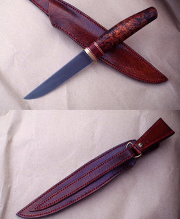 handemade Scandinavian knife with K100 steel blade Fenix in Russia
