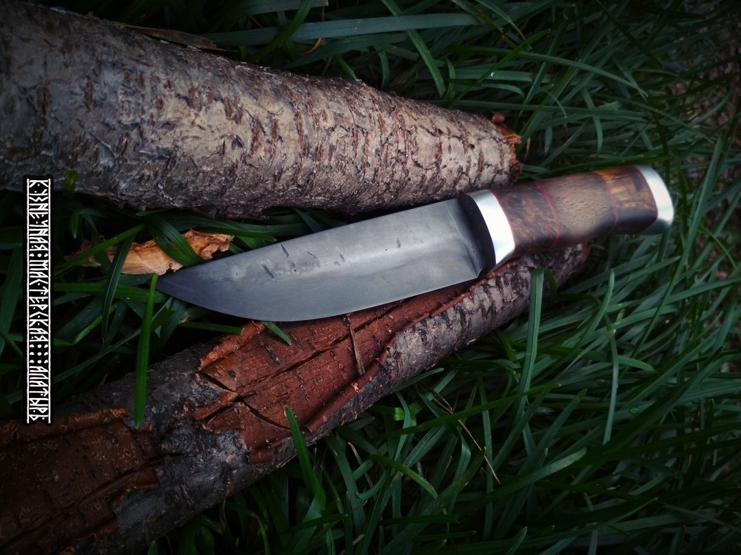 "Custom fishing Hand Forged Knife ""Raven"" with blade 13 cm"