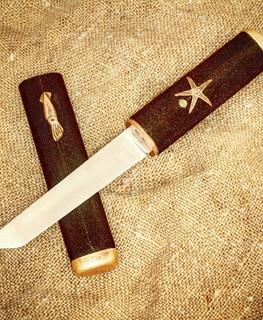 handemade japan Aikuchi tanto knife with n690 steel