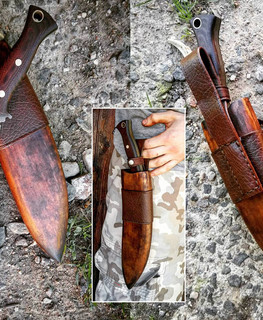 handemade big nepal knife kukri with forged blade