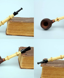 handemade russian smoking briar pipe