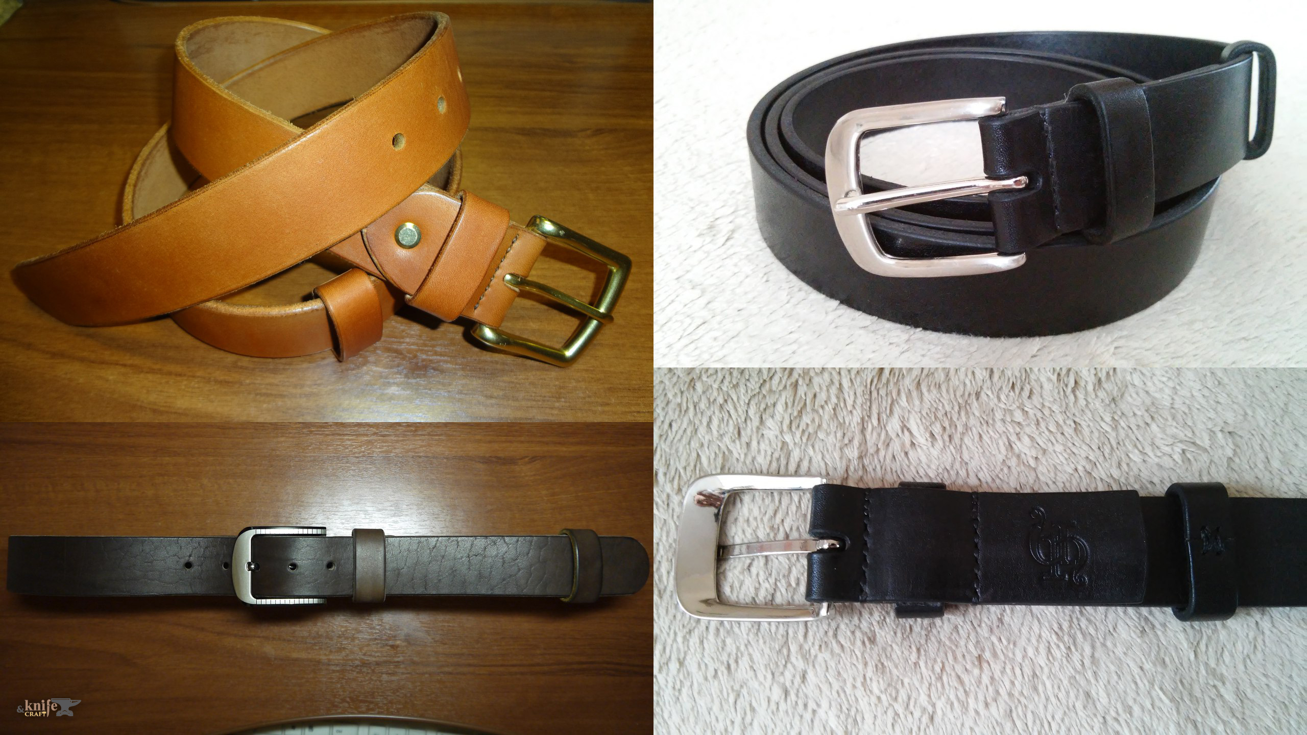 handemade black and brown quality men's leather belts buy in Gubkinsky