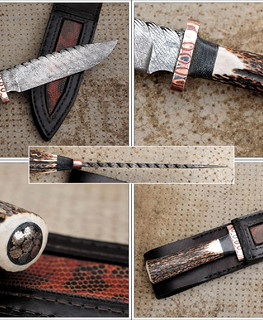 Stag and Cable Bowie Knife