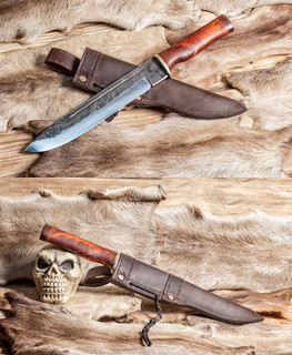handemade forged chopper knife