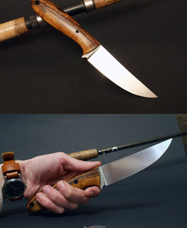 "The handemade knife based on Phil Wilson ""Khal"" with forged СН3 blade"