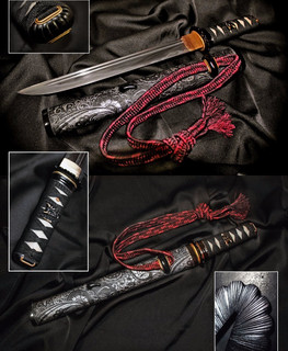 Japanese dagger katana tanto by Daniil Masamune. blade made of U8a